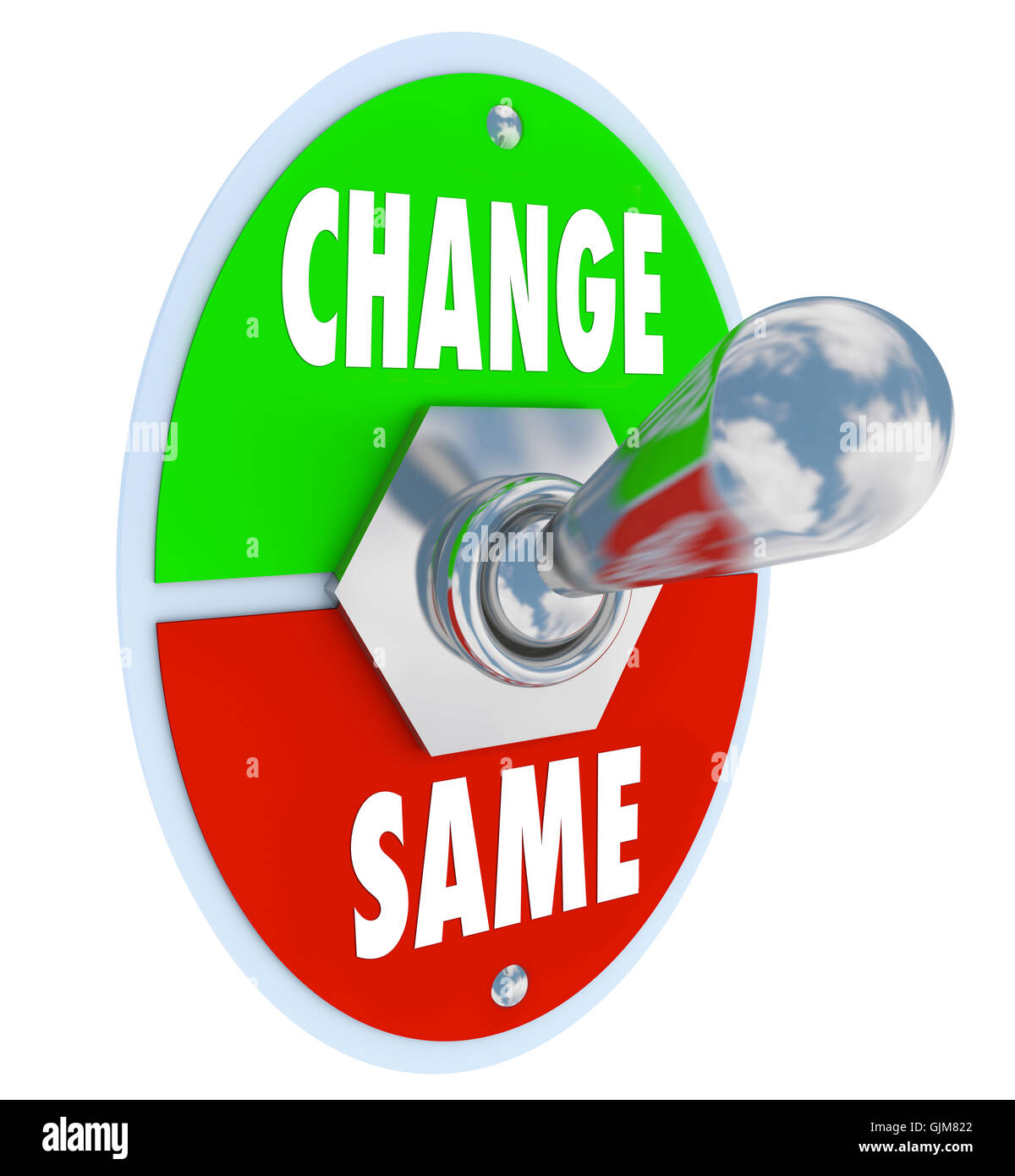 Change vs Same - Choose to Improve Your Situation - Stock Image