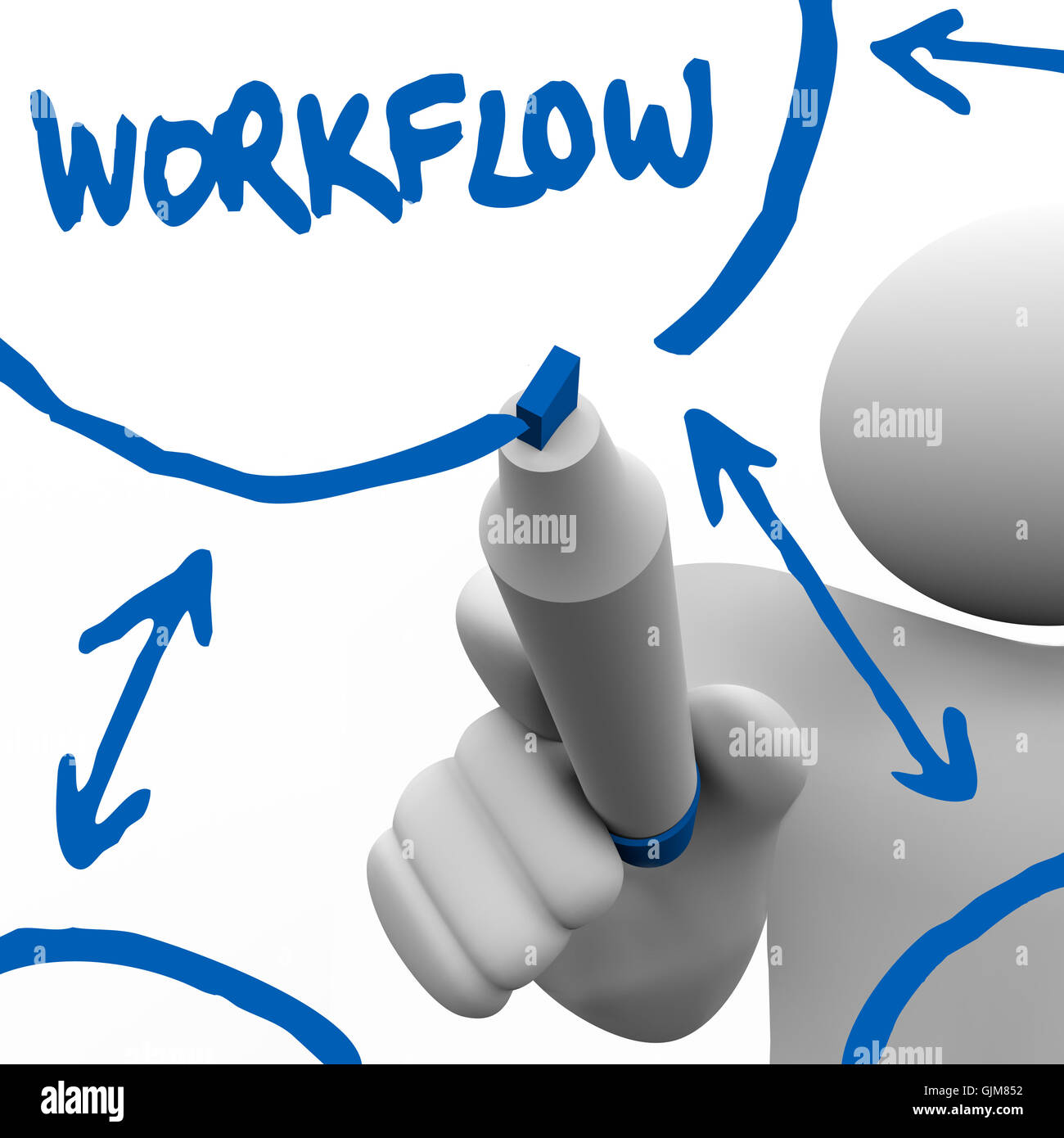 Workflow person writing diagram for work process on board stock workflow person writing diagram for work process on board ccuart Choice Image