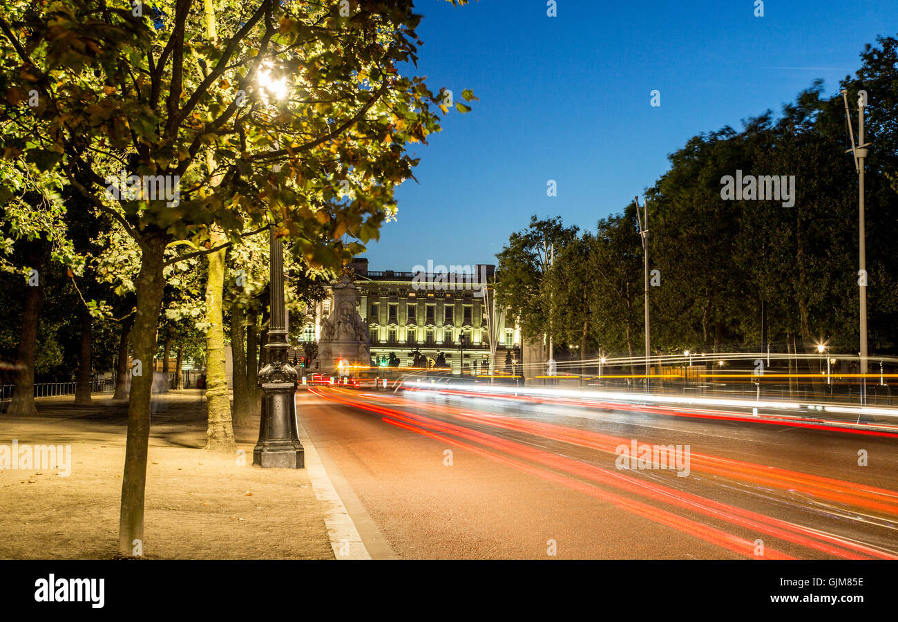 The Mall at Night London UK - Stock Image