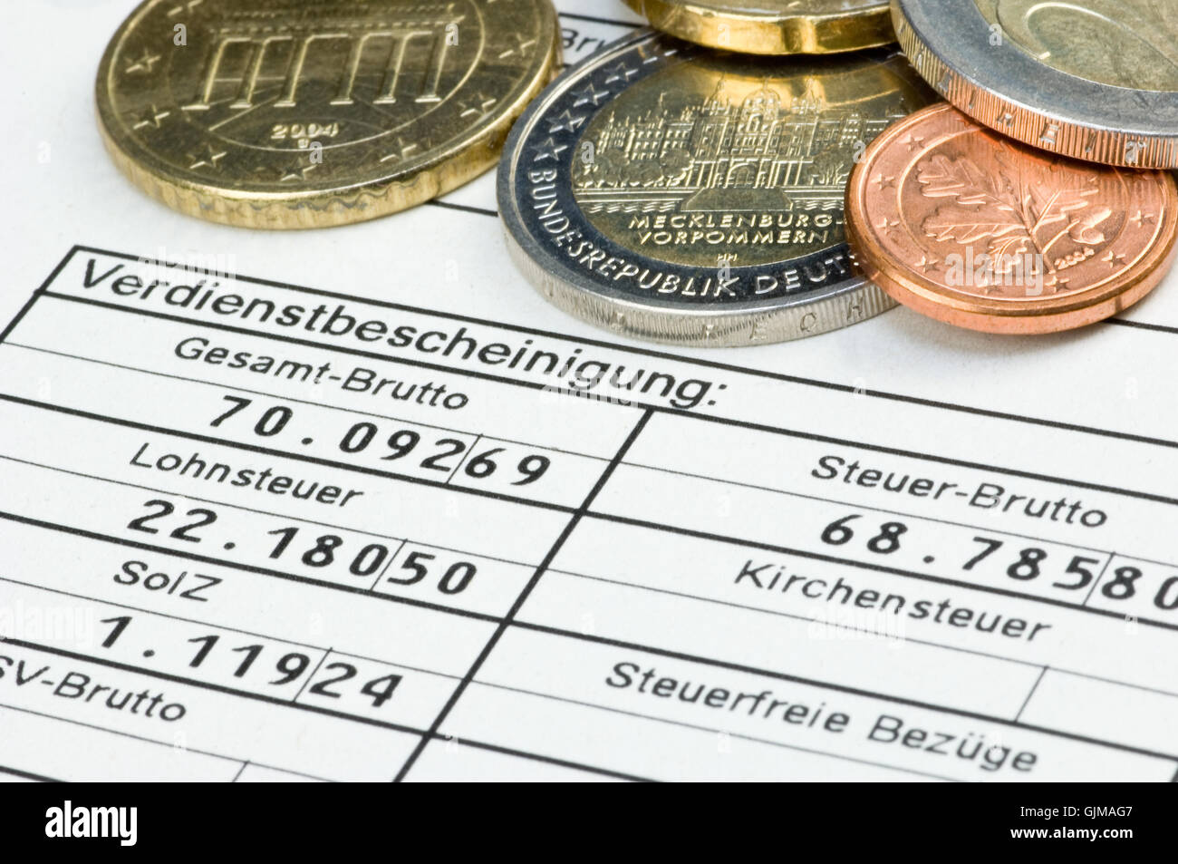 salary merit income Stock Photo