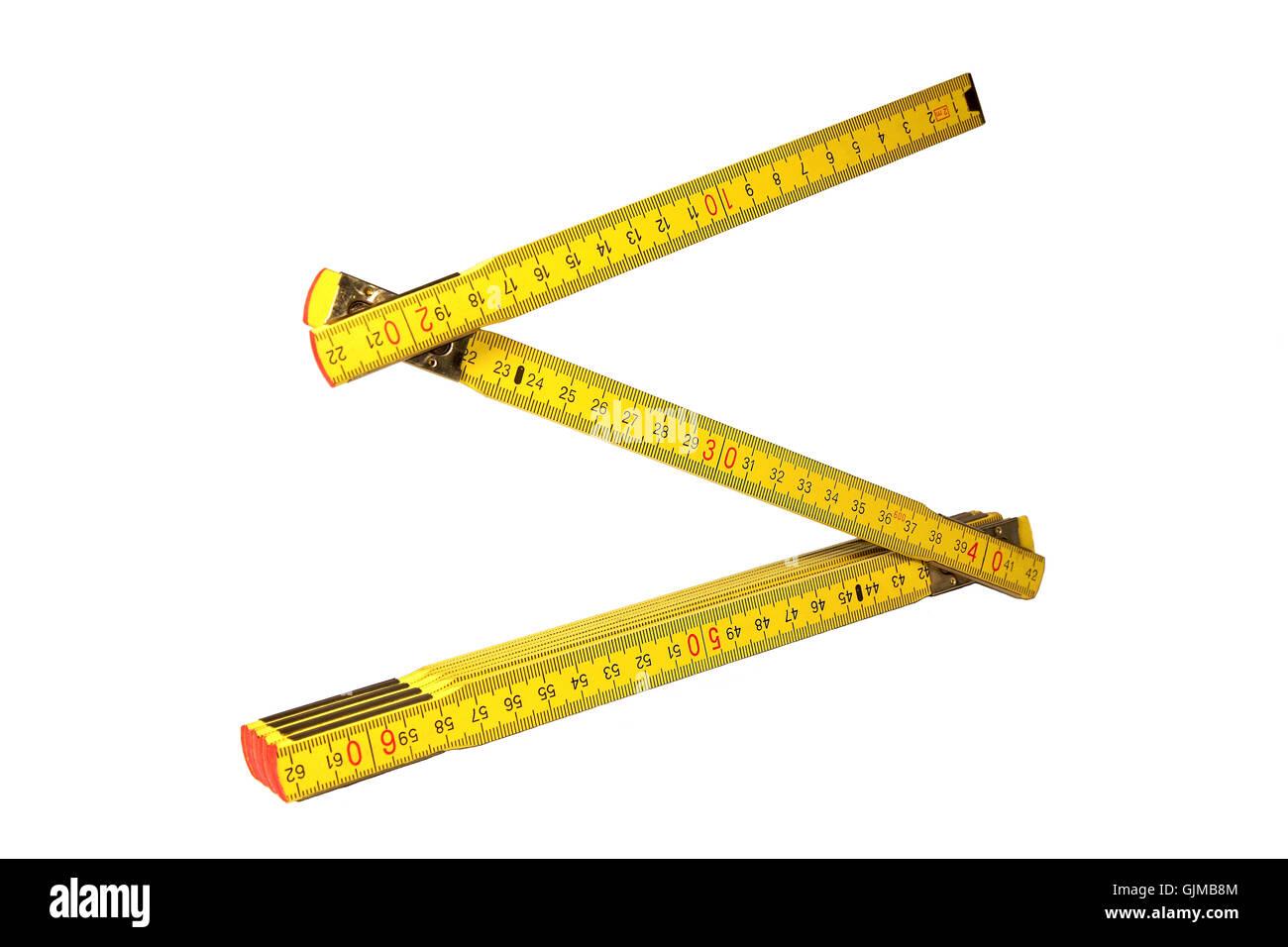 yardstick tool wood - Stock Image