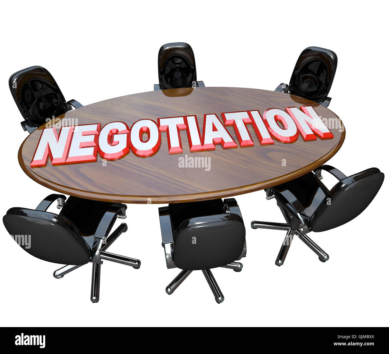 Negotiation Conference Room Table Discussion for Agreement - Stock Image