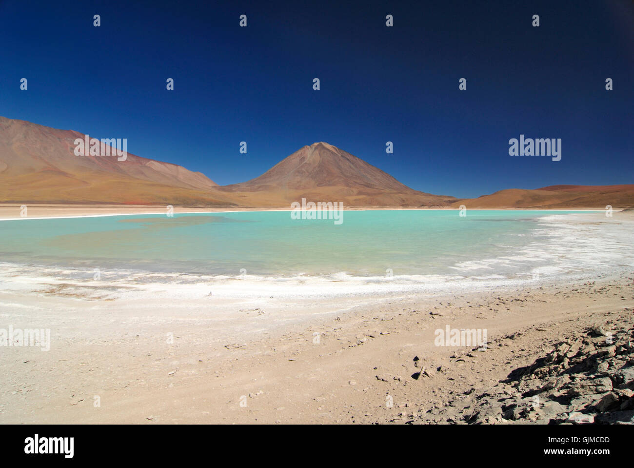 south america turquoise lagoon - Stock Image