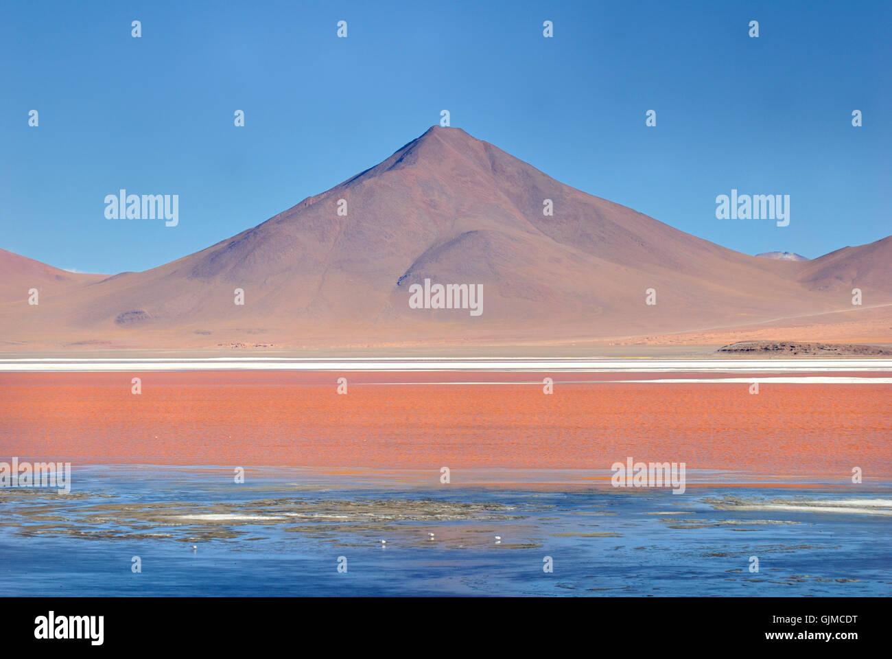 volcano at laguna colorada - Stock Image