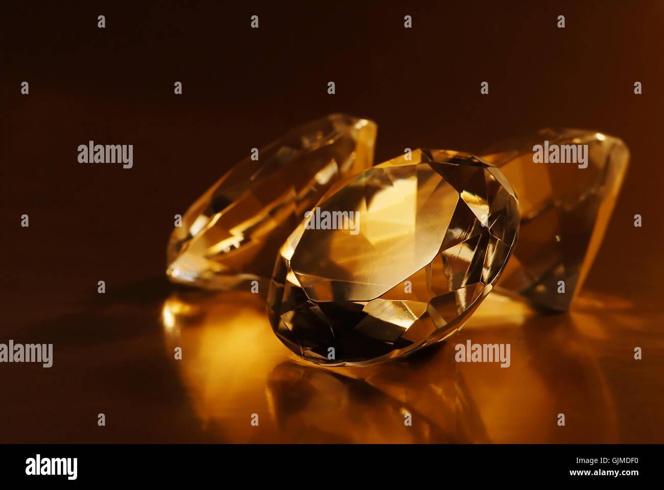 jewel diamond gemstones - Stock Image
