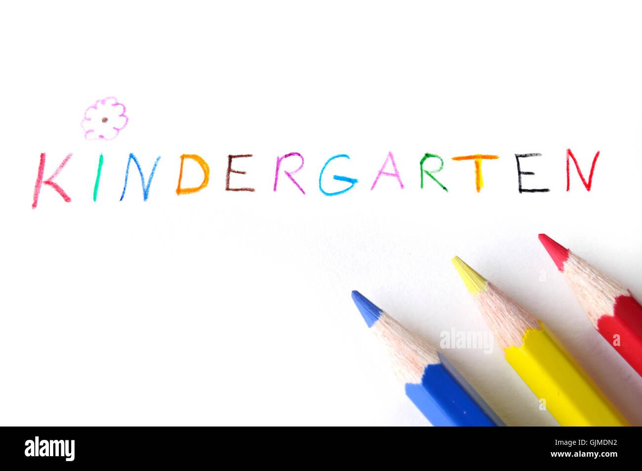 learn elemental kindergarden - Stock Image