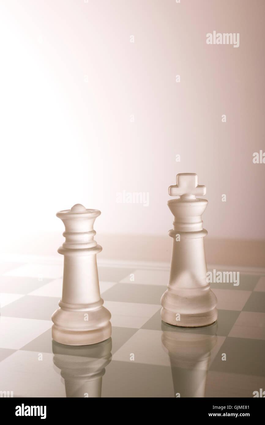 lady chess chessmen - Stock Image