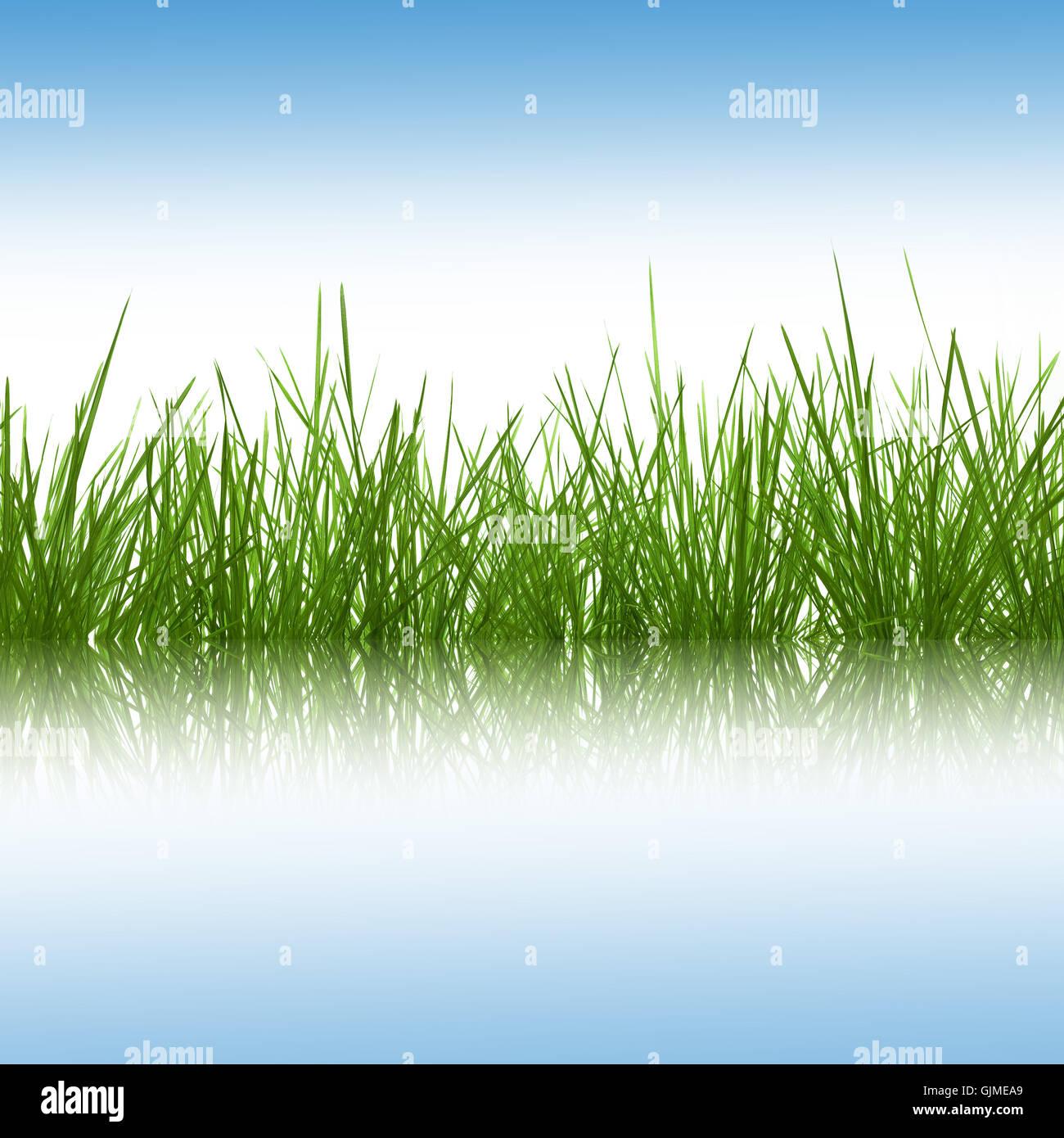 blue mirroring firmament - Stock Image