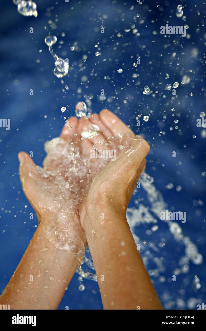 hand wellness wash - Stock Image
