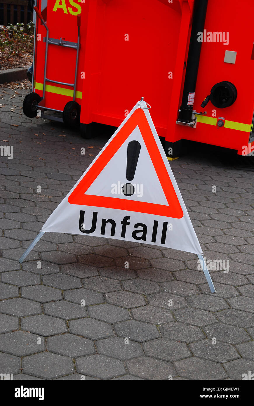 sign signal accident Stock Photo