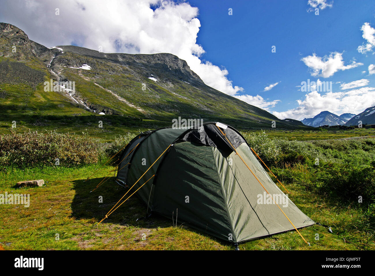 norway scandinavia camping - Stock Image