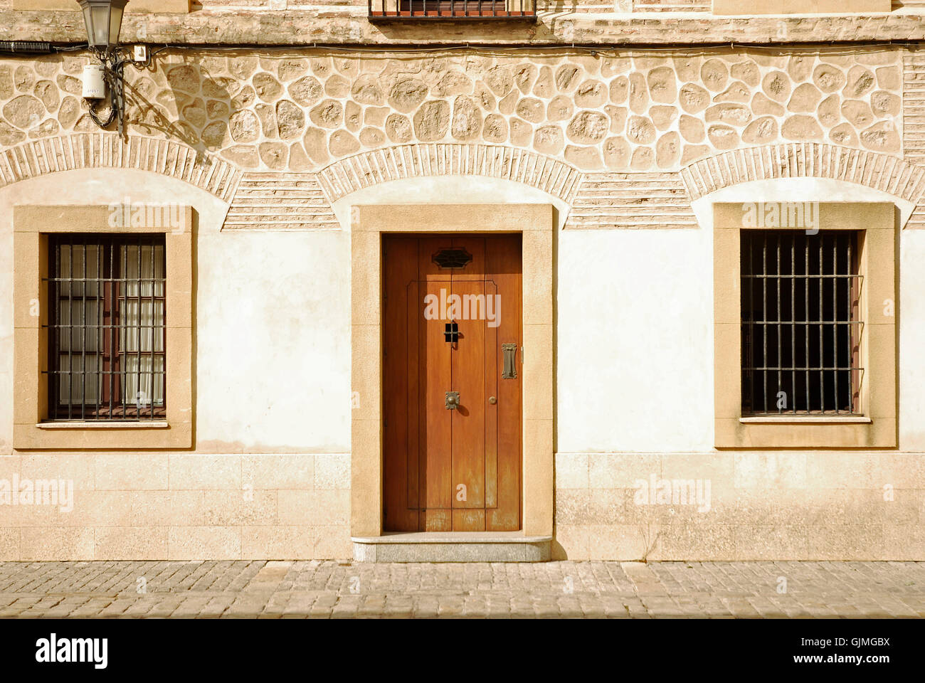 spain facade style of construction Stock Photo