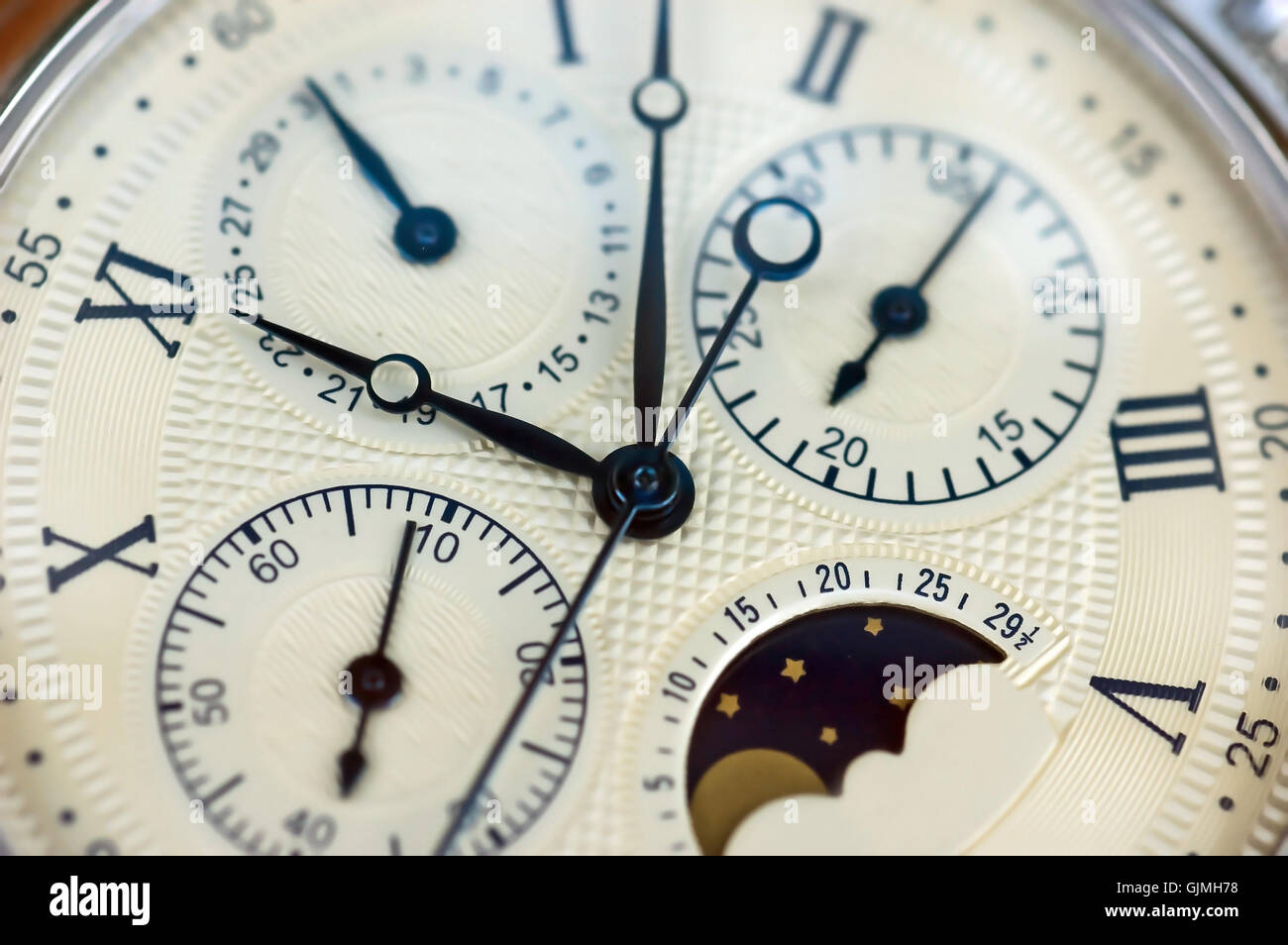 face clock vintage - Stock Image