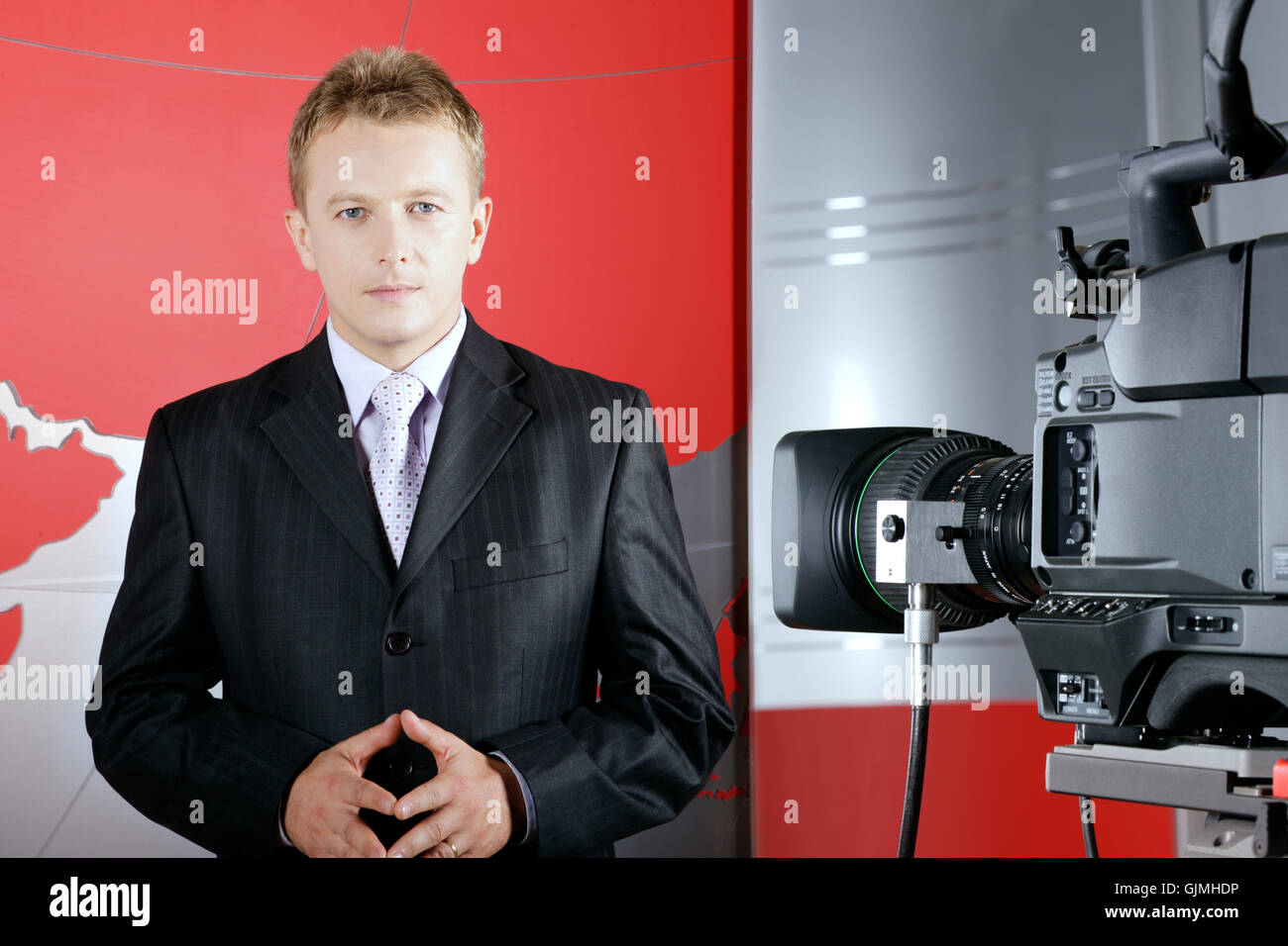 entertainment studio news - Stock Image