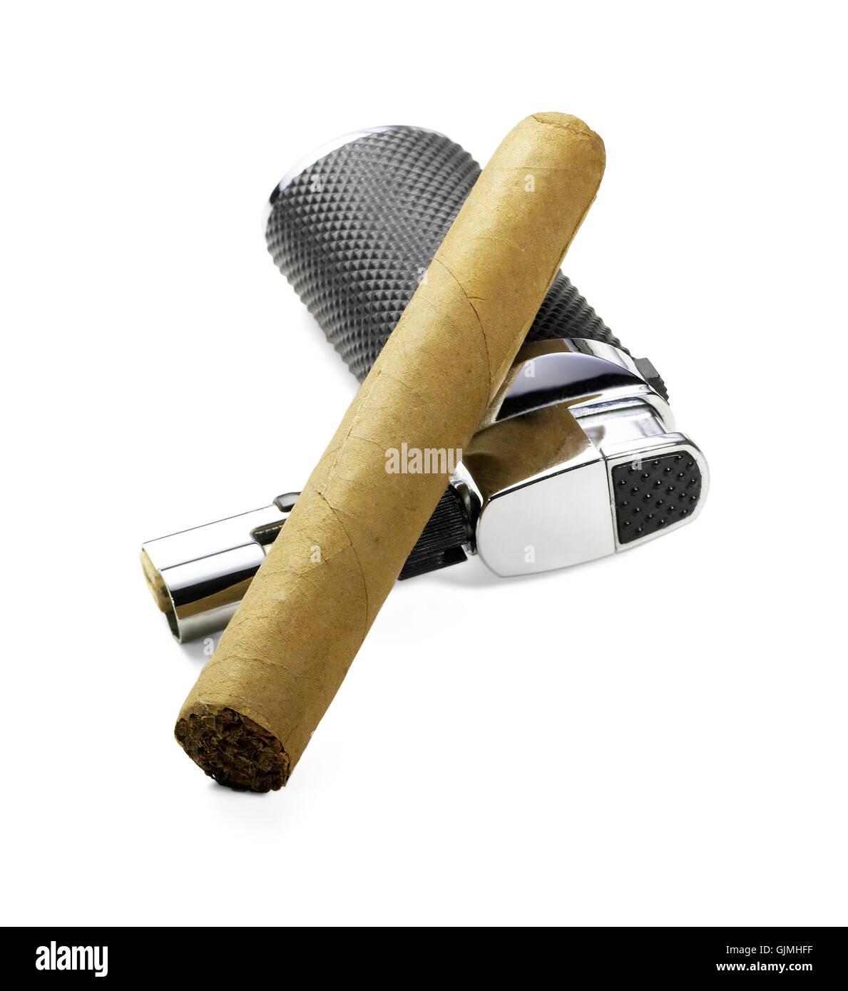 cigar tobacco nicotine - Stock Image