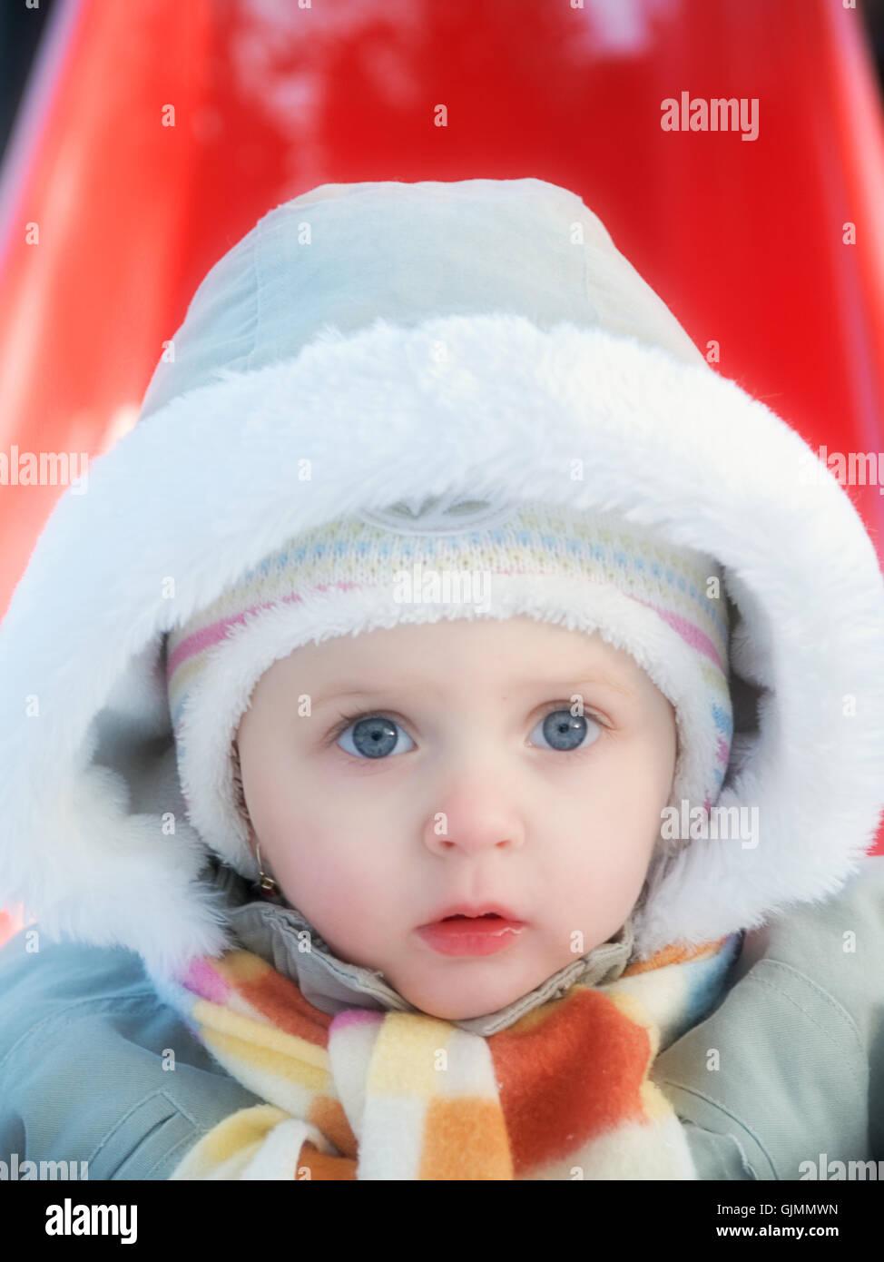 winter baby maternity - Stock Image