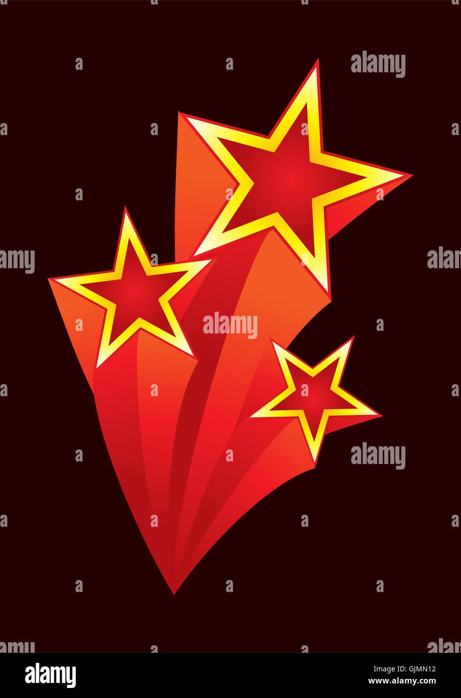 creative stars asterisks - Stock Image
