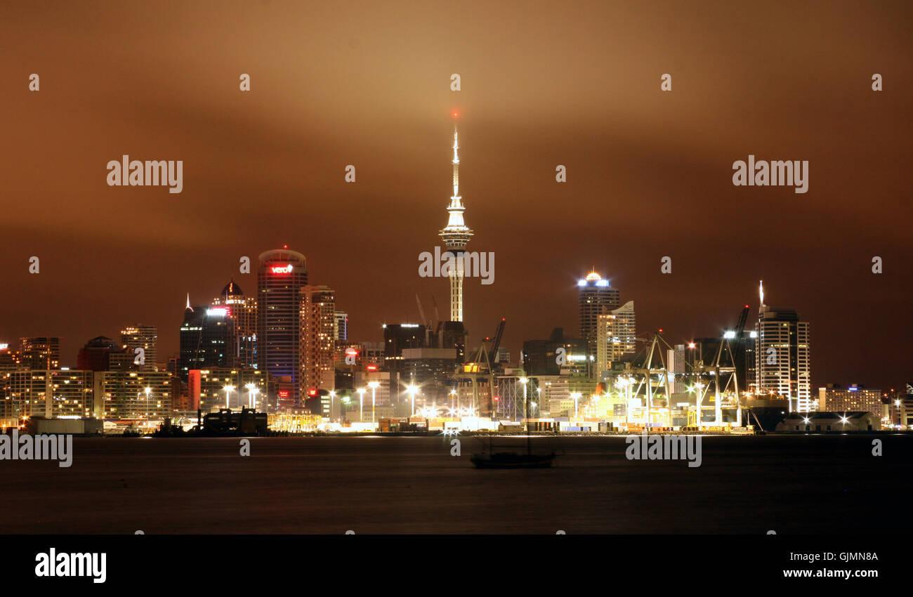 city town harbor - Stock Image