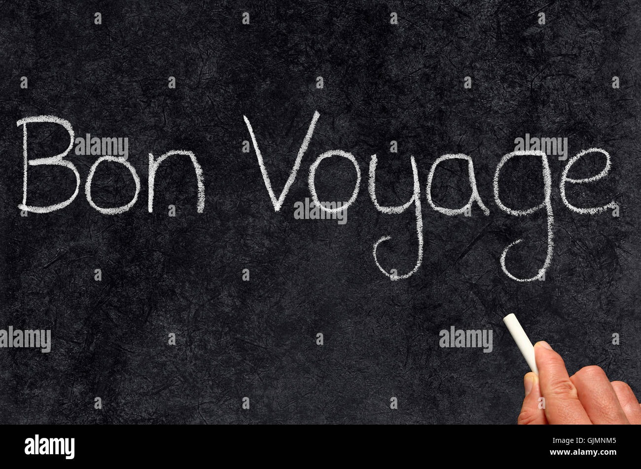 written blackboard chalk - Stock Image