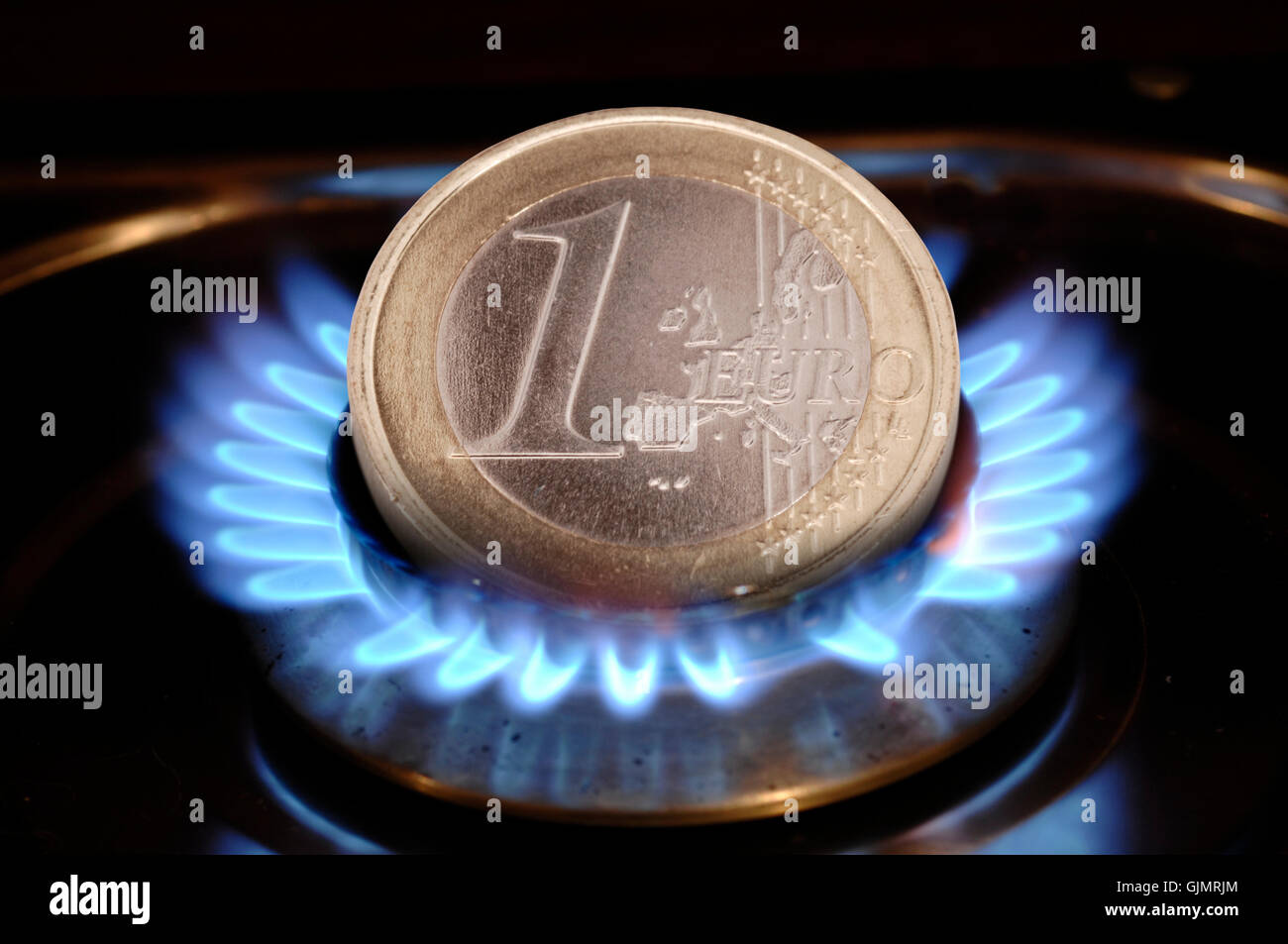 euro costs incidental to sth. energy costs - Stock Image