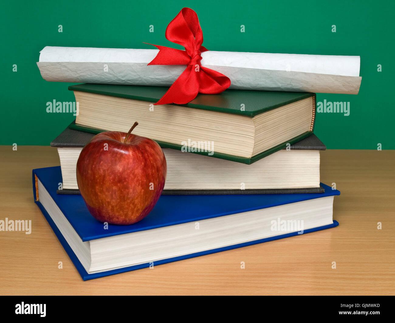 education green diploma - Stock Image