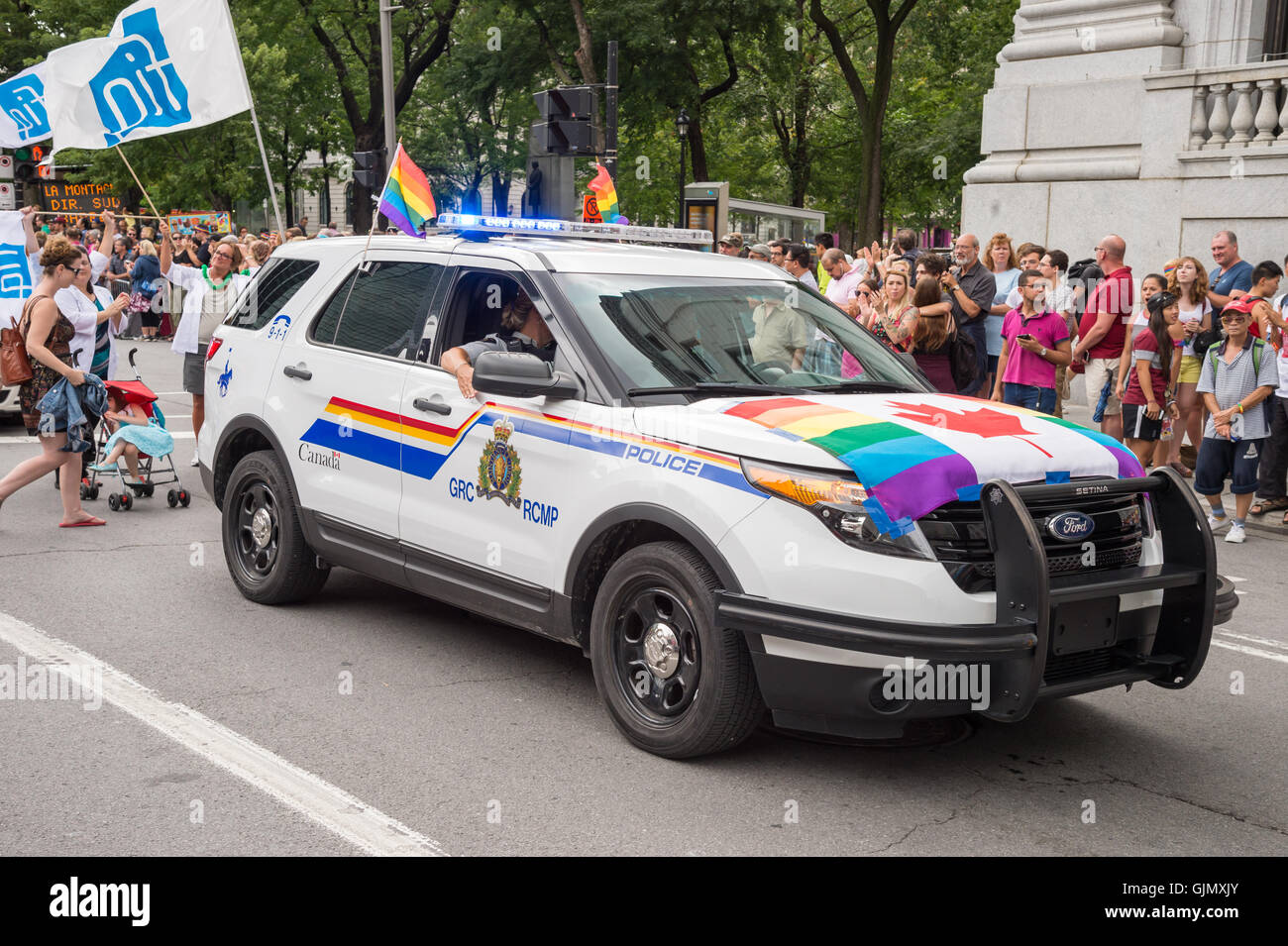 Montreal, CA - 14 August 2016: A car of the Royal Canadian Mounted Police