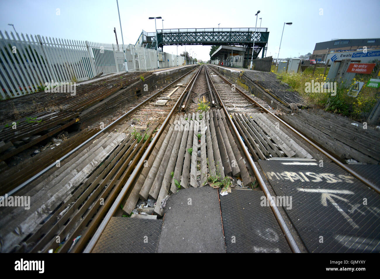 Run down train station at Newhaven, UK, operated by Southern rail - Stock Image