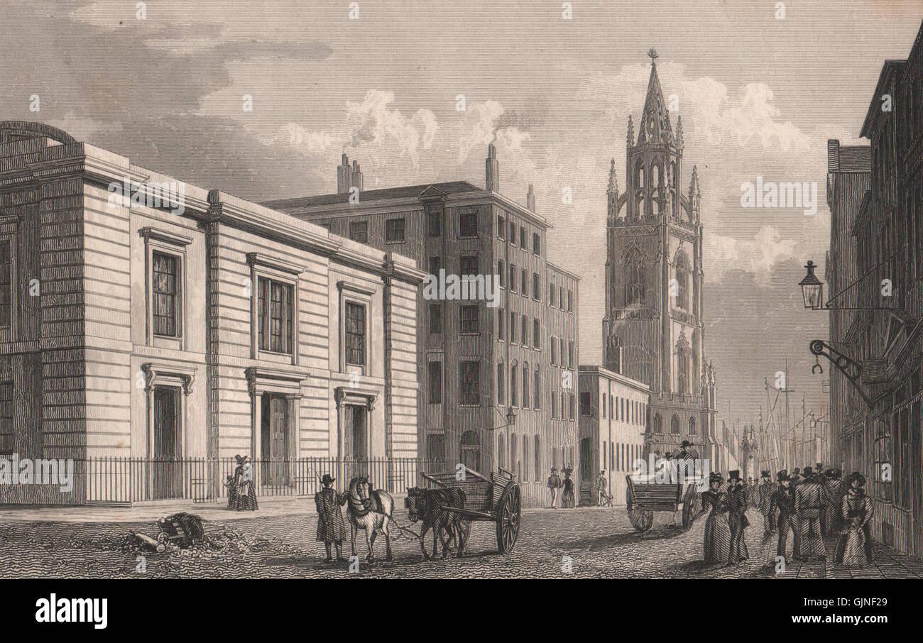 Sessions House, Chapel Street. Demolished 1855. Liverpool. PYNE, print 1829 - Stock Image