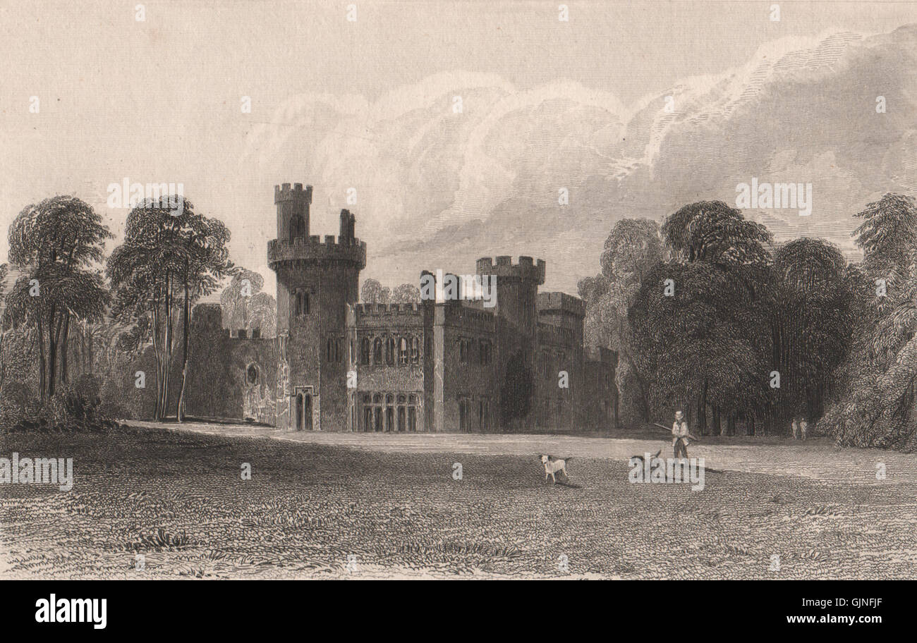 Childwall Hall. Demolished c1950 (Lime Pictures site). Liverpool. AUSTIN, 1829 - Stock Image