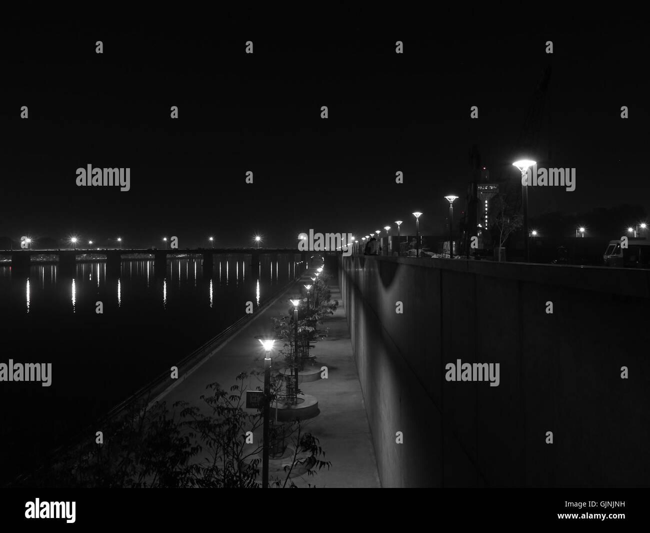 Sabarmati Riverfront in Ahmedabad - Stock Image