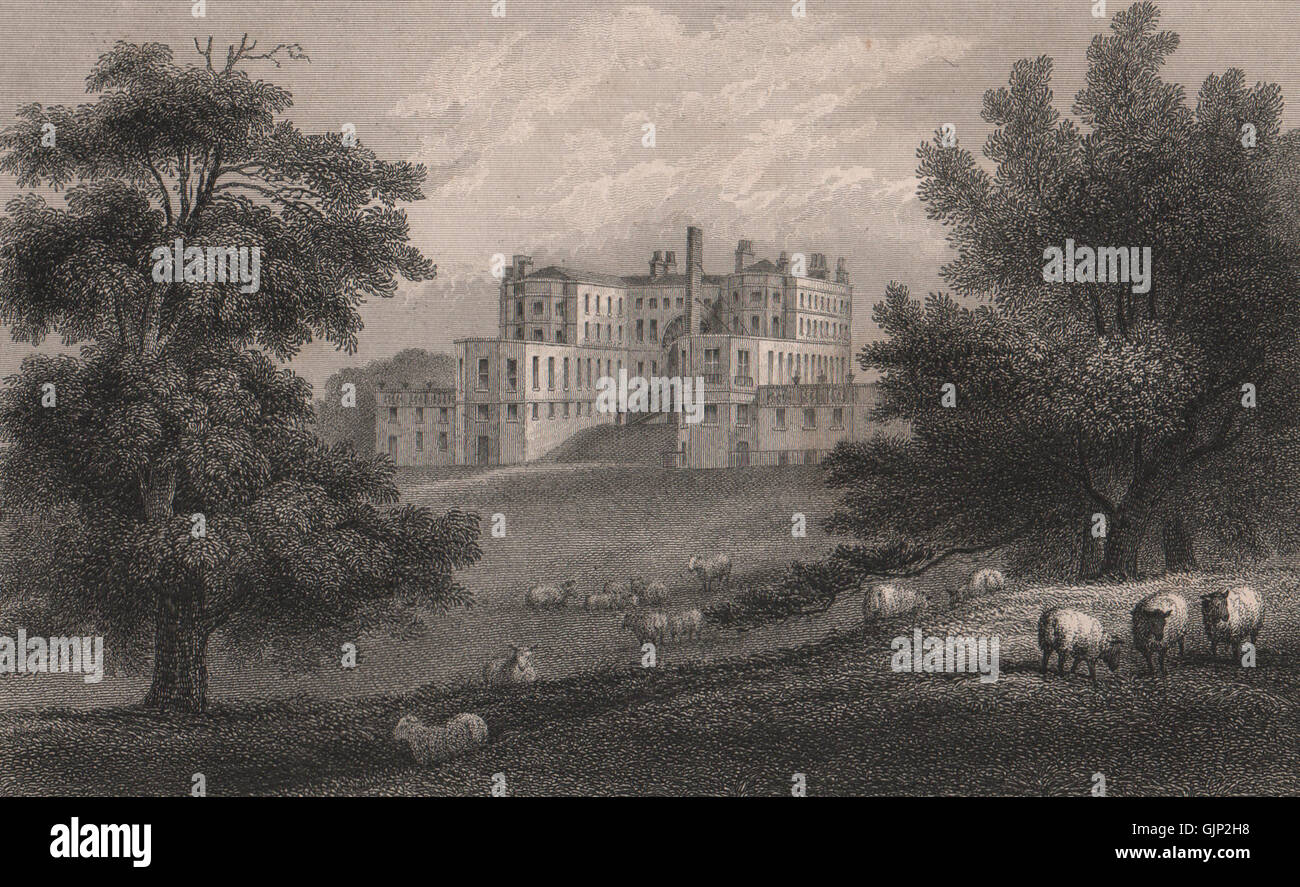 Belvedere House, Erith, London. Demolished 1959. Lord Say & Sele. FUSSELL, 1829 - Stock Image