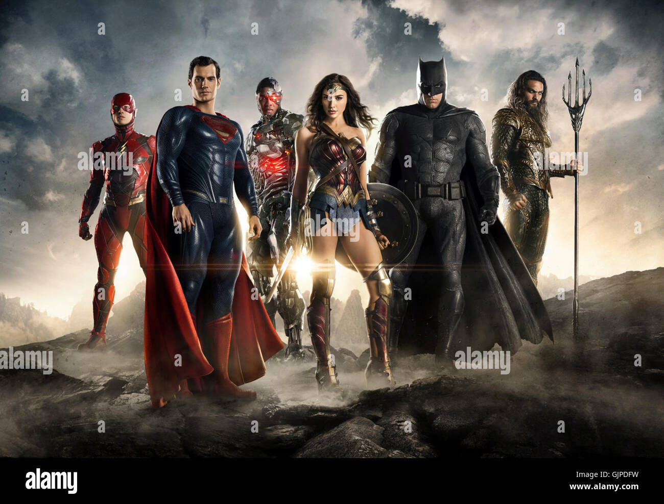 Justice League is an upcoming American superhero film based on the DC Comics superhero team of the same name, distributed - Stock Image