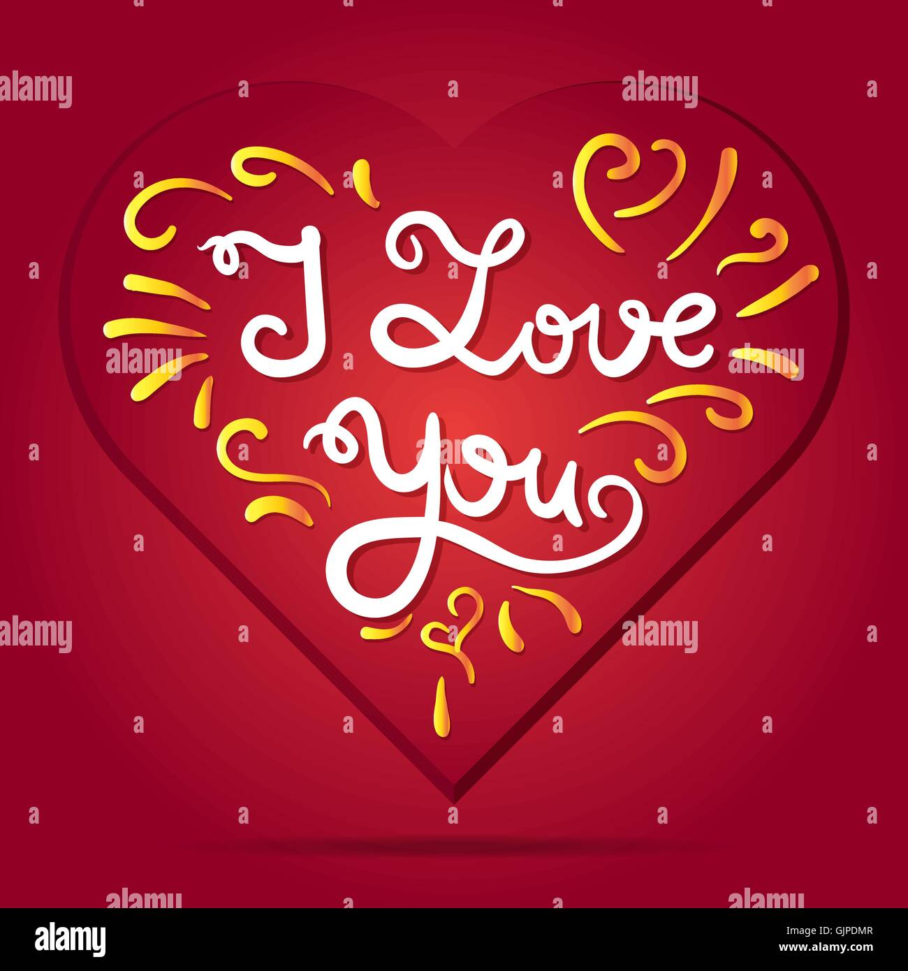 Lovely Valentines Day Calligraphy Poster Stock Photos Lovely