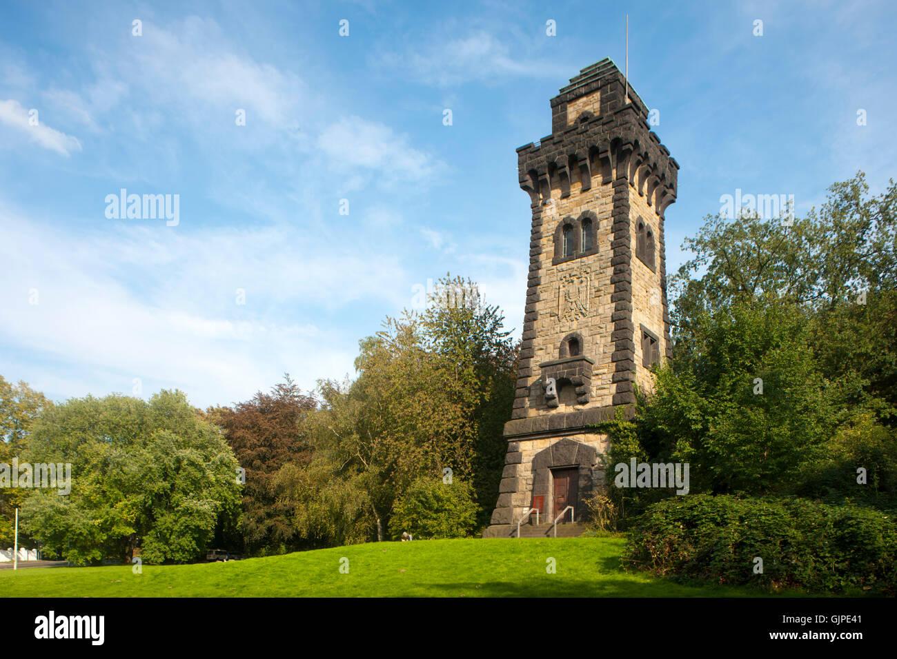 Deutschland, Nordrhein-Westfalen, Mühlheim an der Ruhr, Bismarckturm auf dem Kahlenberg - Stock Image