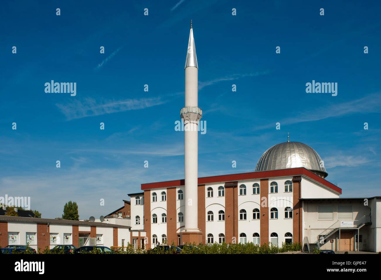 Deutschland, Nordrhein-Westfalen, Mühlheim an der Ruhr, Fatih-Moschee - Stock Image