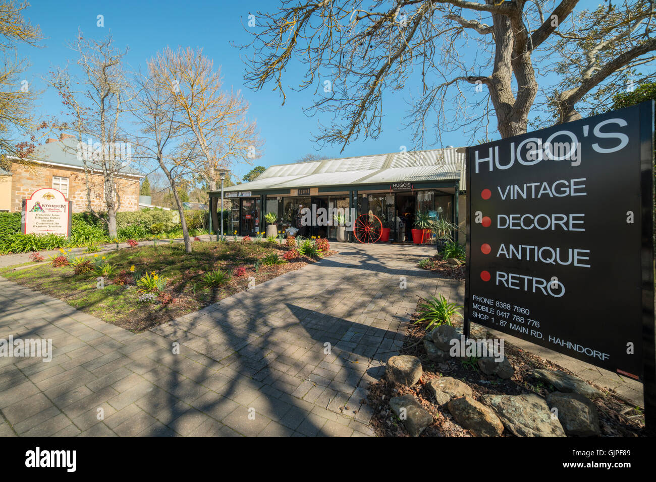Hahndorf, in South Australia's picturesque Adelaide Hills. - Stock Image