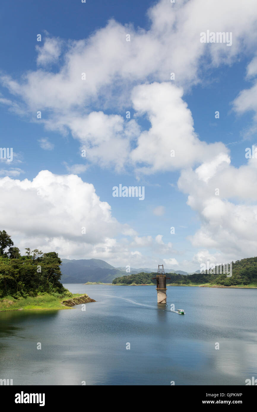 Arenal Lake with old dam remnants, Arenal, Costa Rica, Central America - Stock Image