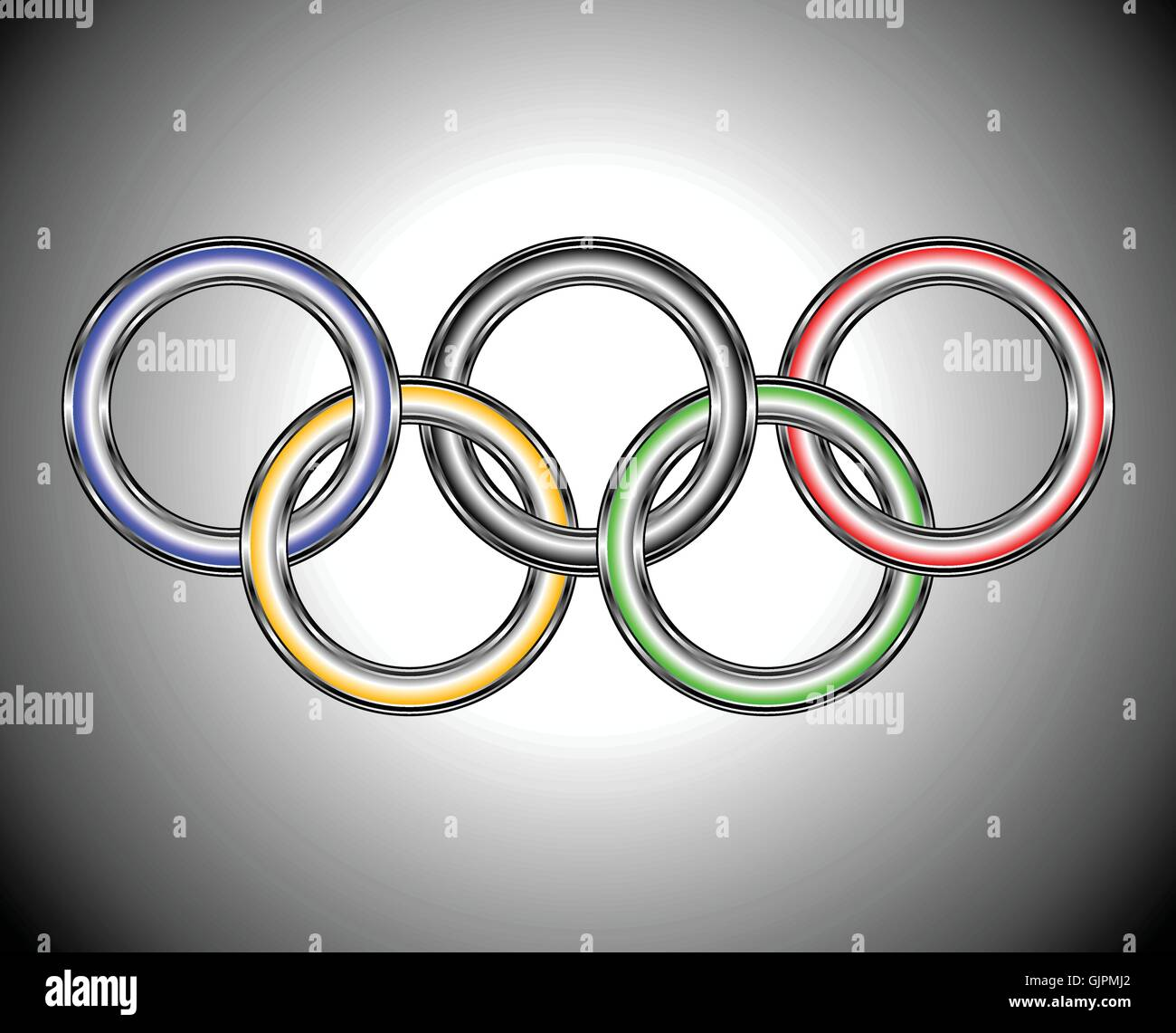 olimpic ring - Stock Vector