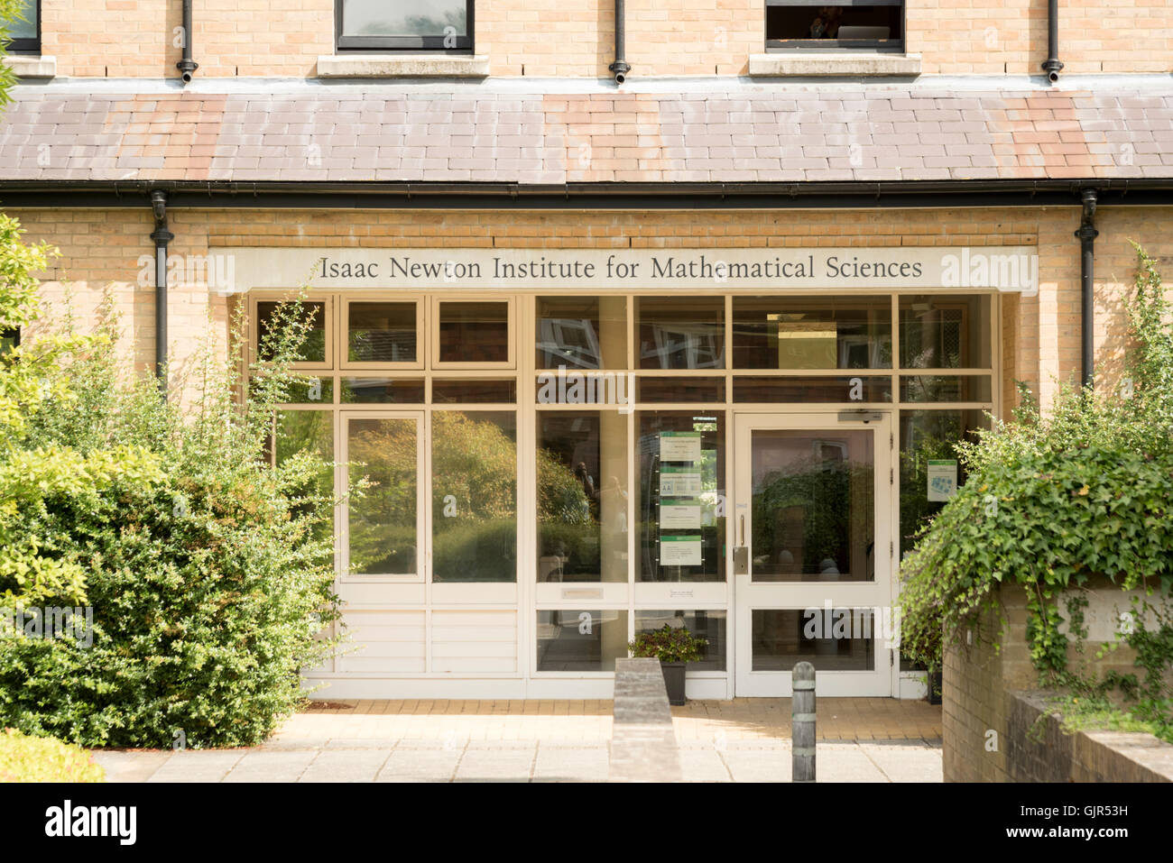 The Isaac Newton Institute for Mathematical Sciences building at Cambridge UNiversity Cambridge Uk - Stock Image