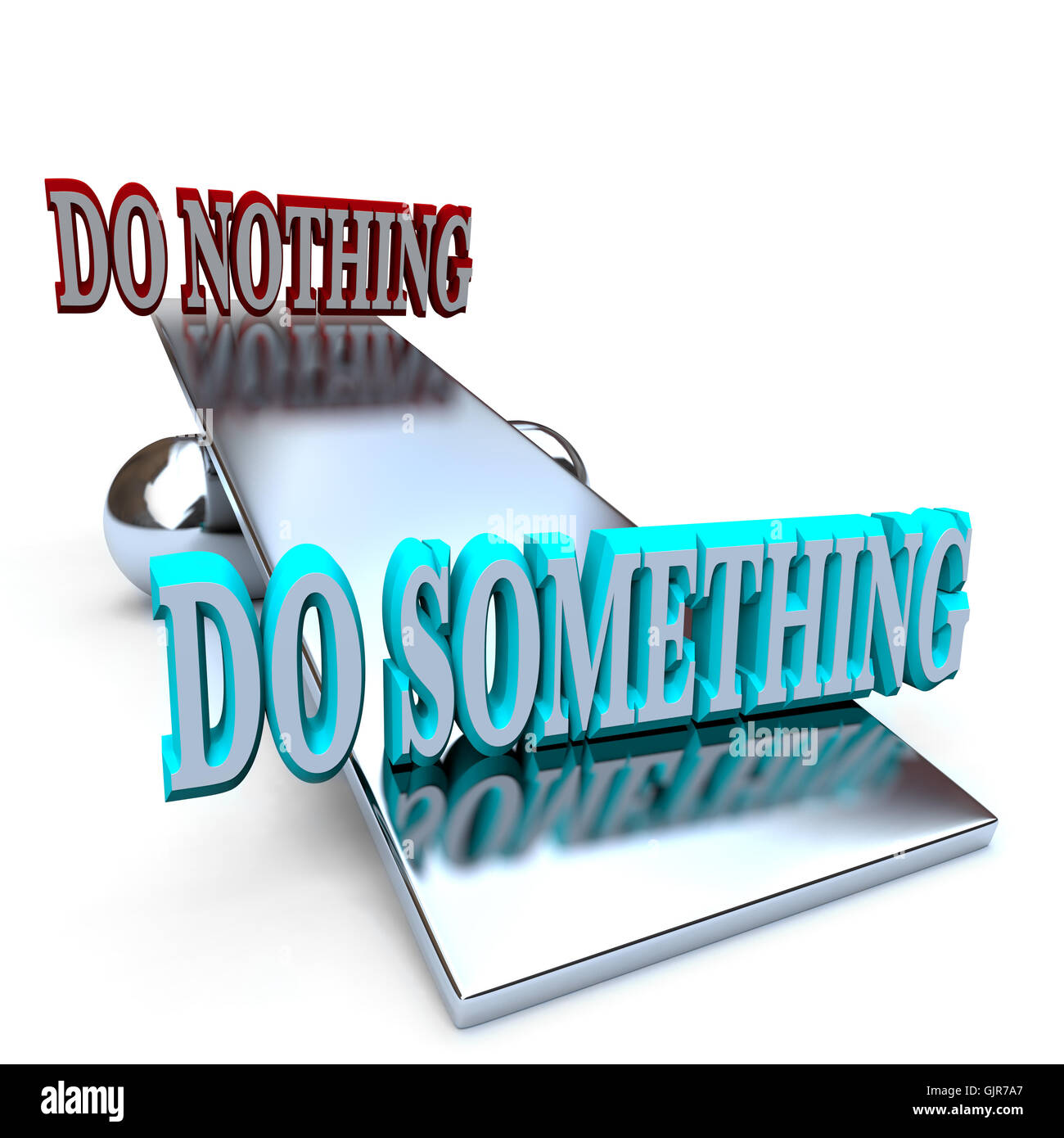 Do Something vs Doing Nothing - Taking a Stand - Stock Image