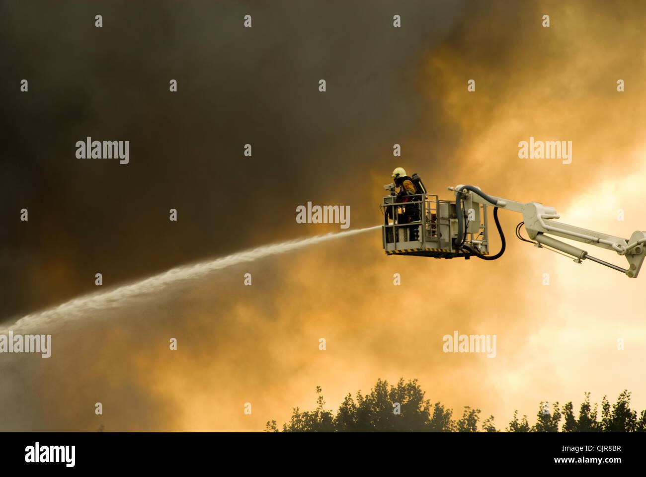 danger insurance fire - Stock Image
