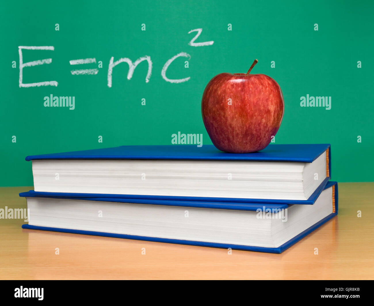 formula theory relativity - Stock Image