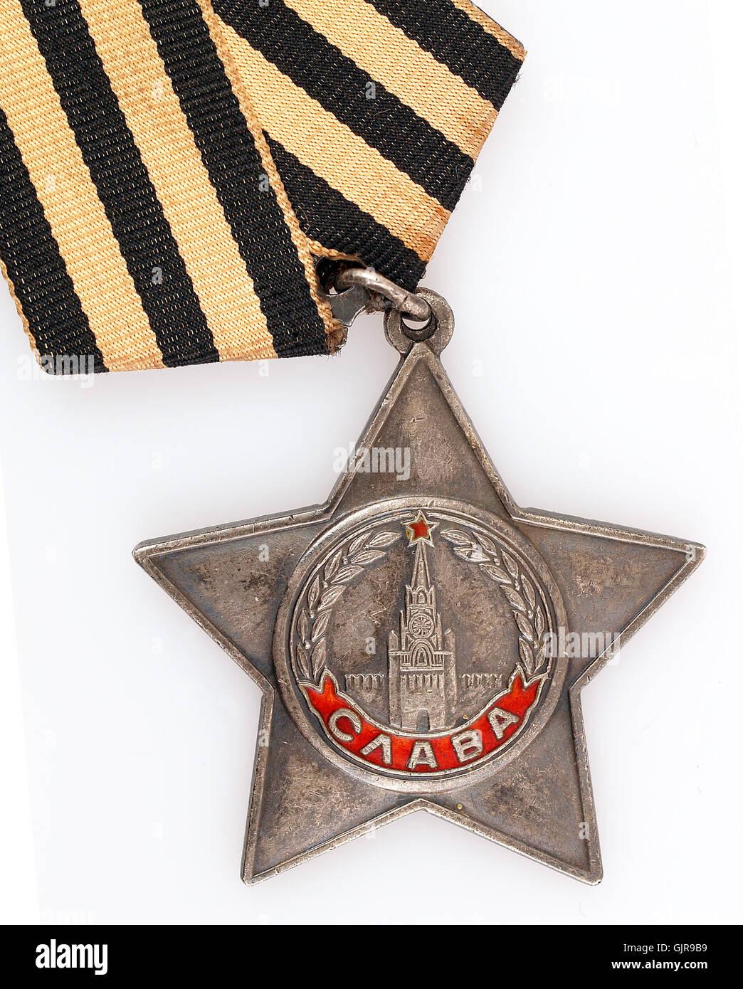 soviet union medal russian - Stock Image