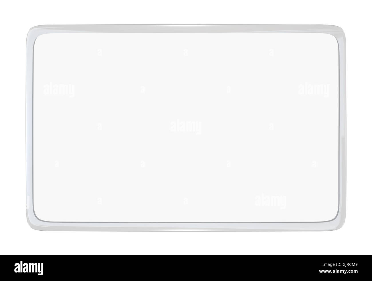 Blank Laminated Card - Place Your Own License or Identification - Stock Image