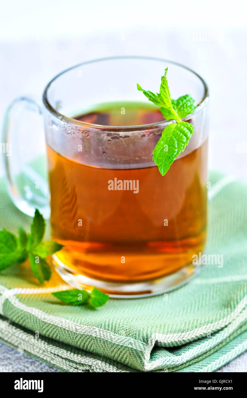 tea drink drinking - Stock Image