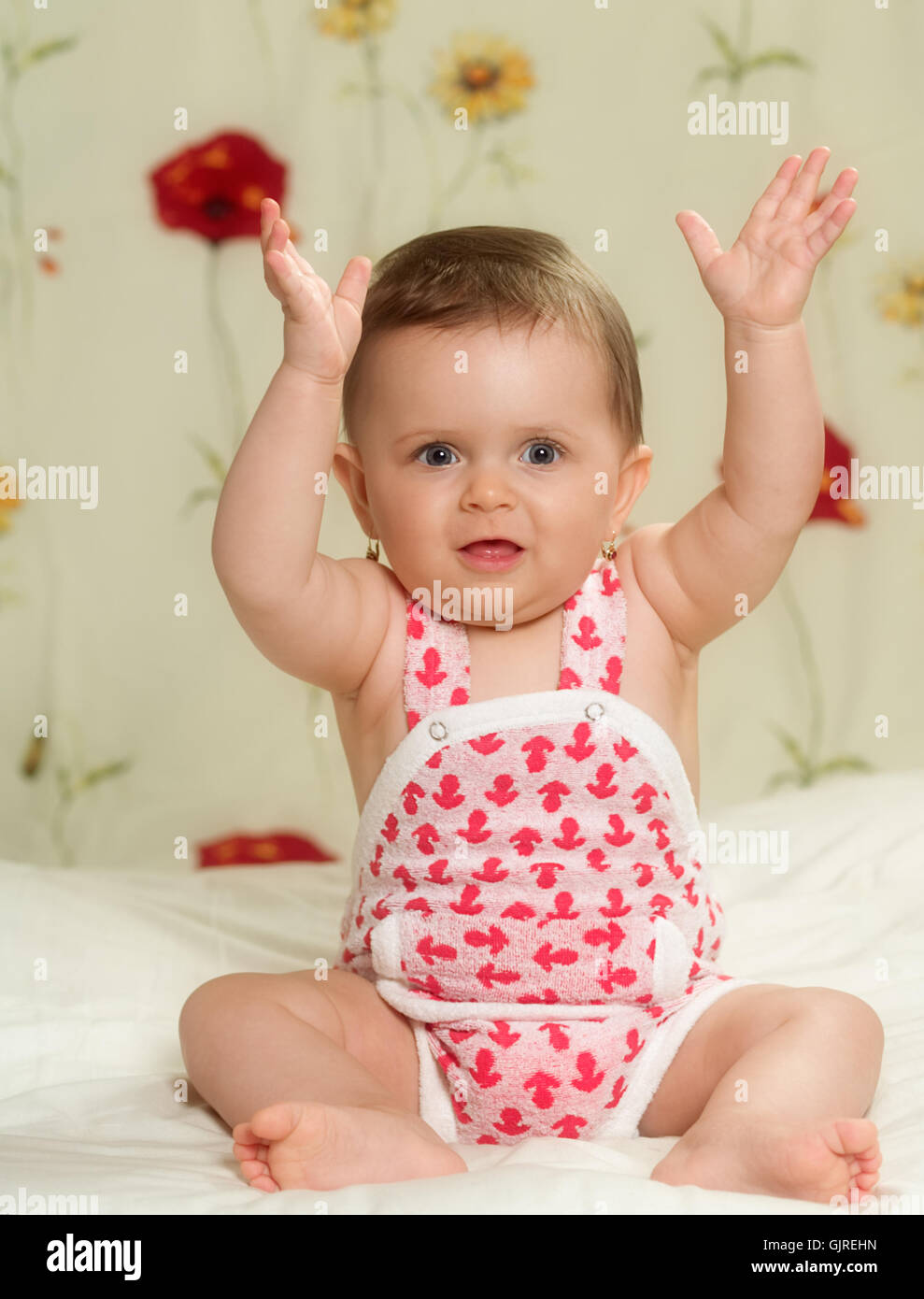 baby delighted unambitious - Stock Image