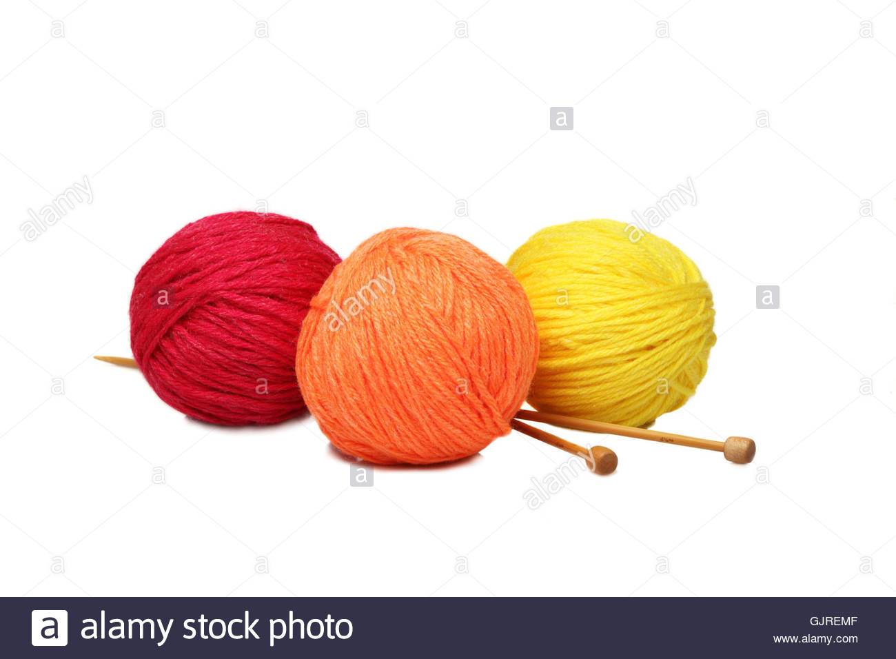 wool hobby needles - Stock Image