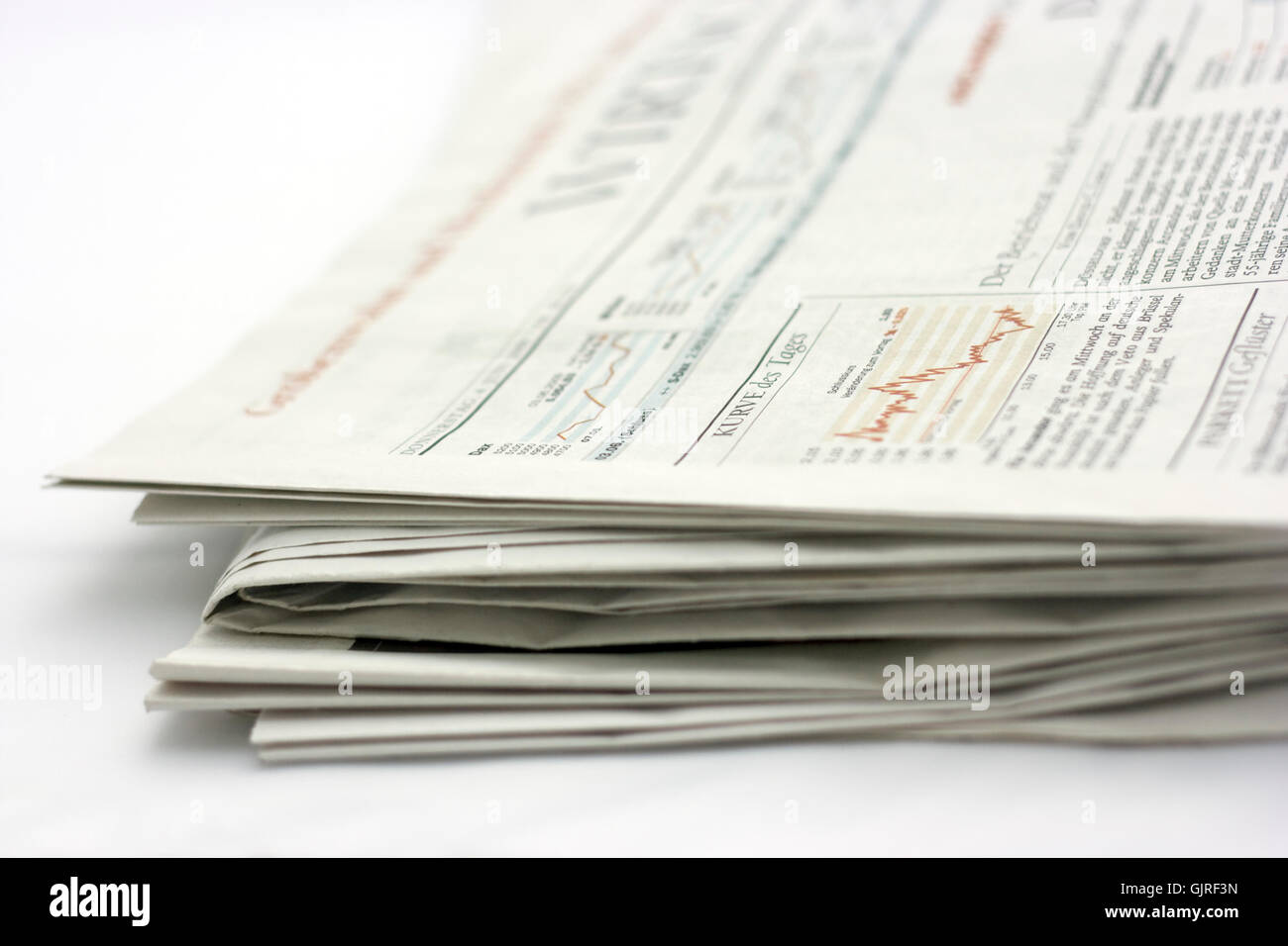 newspaper close up - Stock Image