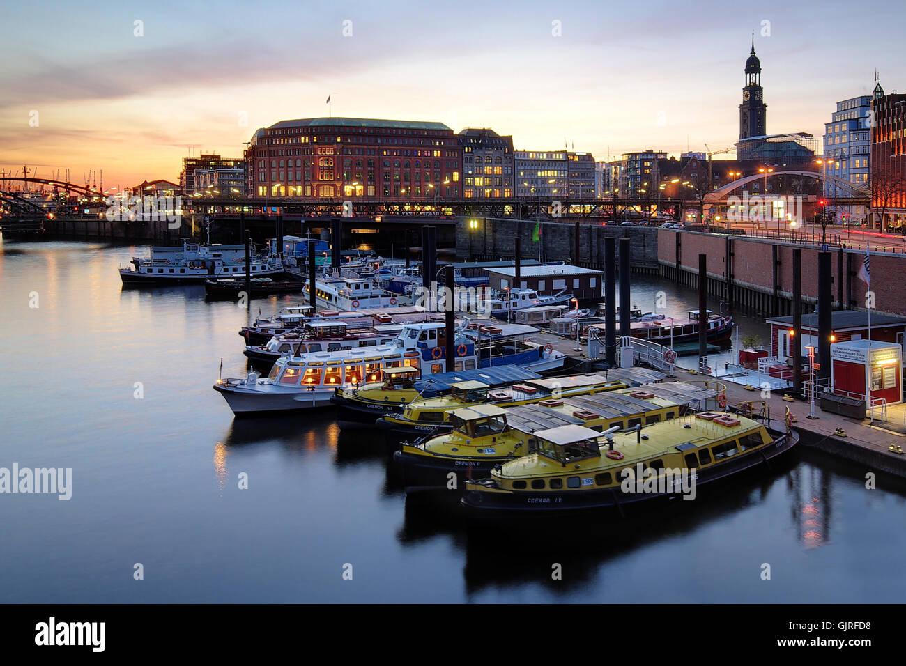 inland port hamburg - Stock Image
