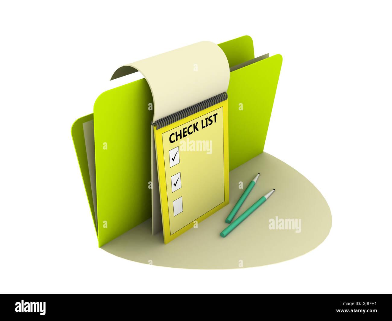 navigation illustration list - Stock Image